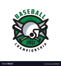 Baseball Championship 2017 Logo Design Element In