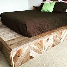 ... Fascinating Rustic Wood Platform Bed Including Frame With Metal Legs  Modern And Of Pictures Frames South ...