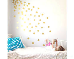 gold polka dots spots wall sticker stickers rose nz