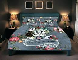 sugar skull comforter deer decor large size of bedroom ideas pink set king sugar skull comforter set