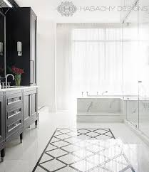 black and white diamond tile floor. White Marble Floor Accented With Black Diamond Pattern Tiles. Habachy Design · Bathtub Steps View Full Size And Tile