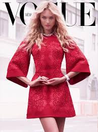 beautiful blonde victoria s secret model candice swanepoel modeling for the cover of vogue mexico magazine wearing beautiful makeup victoria s secret model