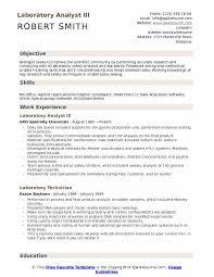 Lab Analyst Laboratory Analyst Resume Samples Qwikresume