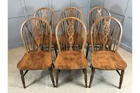 6 dining chairs wheel back chairs country pub style photo 1