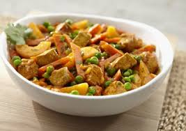 hmr entree thai curry with peaches