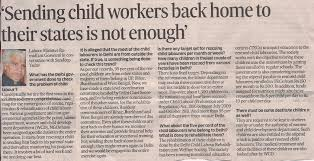 sending child workers back home to their states is not enough  sending child workers back home to their states is not enough human trafficking