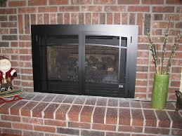 back to gas fireplace doors design