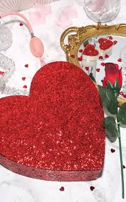 paperchase large glitter heart giftbox image 1
