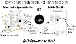 Party Planning Template Free Checklist Party Planning Template