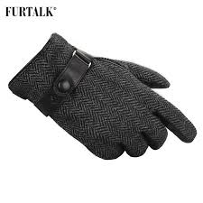 furtalk men winter real lamb leather gloves fashion with warm cashmere lining tactical gloves mens gloves