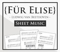 Für Elise Sheet Music Hoffman Academy