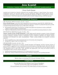 ... Wealth Management Resume Sample 3 ...