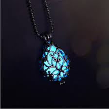 ... Glow In The Dark Necklace 6 Jewelry Silver Locket Gift ...