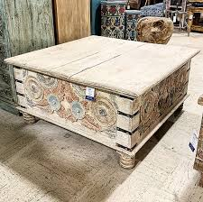 sold square coffee table trunk