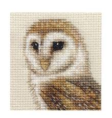 Owl Cross Stitch Pattern Adorable BARN OWL Bird Complete Counted Cross Stitch Kit EBay
