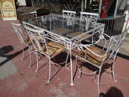 wrought iron garden furniture antique. vintage wrought iron patio furniture room table glass top wood also garden antique
