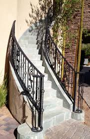 Wrought Iron Color Wrought Iron Exterior Stair Railings Home Ideas Collection To