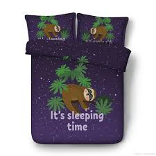bedding set with 2 pillow shams lazy sleepy bear theme tribe of australian sloths bed set cute smiling sloth duvet cover baby sloths duvet cover sets