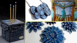 36 Creative DIY Ways HOW TO REUSE OLD JEANS - Recycled Denim Craft Ideas
