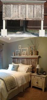 diy inspiration old door turned into headboard to fit queen king bed home furniture