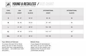 Size Charts Young Reckless