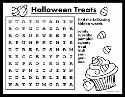 word searches for kids printable free HALLOWEEN | Dollhouse Bake ...