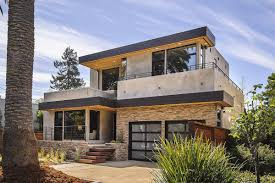 Appealing Prefab Home With Sandstone Modern Outdoor Accent Wall ...