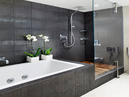 modern bathroom colors ideas photos. Inspiring Small Bathroom Color Ideas With Grey Wall Tiled As Well Simple Corner Walk In Shower Also Modern Tubs Decorate Colors Photos
