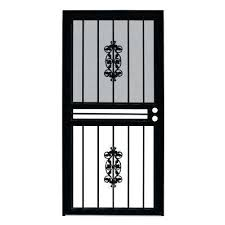 black metal screen doors. Iron Screen Doors Security Exterior The Home Depot Wrought Sydney Decorating . Black Metal R