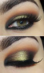 gold and green smokey eye