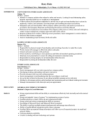 Store Sales Associate Resume Samples Velvet Jobs