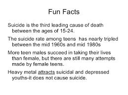 teen suicide presentation