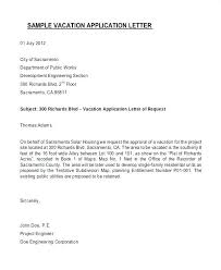 Application Letter For Extension Of Leave Application For
