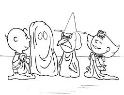 Small Picture Charlie Brown Halloween Coloring Pages Charlie Brown Coloring