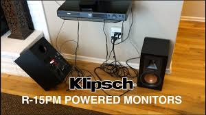 klipsch r 15pm. klipsch r-15pm powered monitors r 15pm e