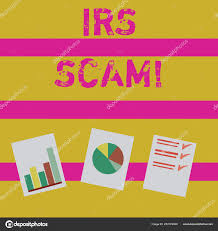 Irs Deposit Chart Word Writing Text Irs Scam Business Concept For Involve