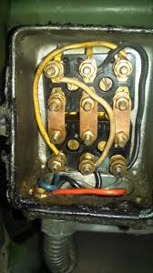older 3 phase motor connections