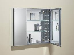 Lighted Bathroom Mirror Cabinet Bathroom Lighted Medicine Cabinets With Mirrors Mirrored