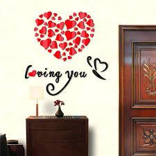 heart wall decals love heart wall sticker flower wallpaper decorative wall decals es mirror decor vinyl heart wall decals