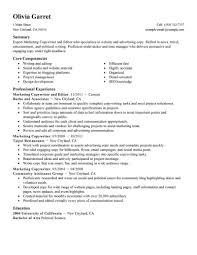 Sample Resume For Marketing Job Marketing Resume Examples Marketing Sample Resumes LiveCareer 64