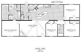 4 bedroom floor plan c 9807 hawks homes manufactured modular conway little rock arkansas