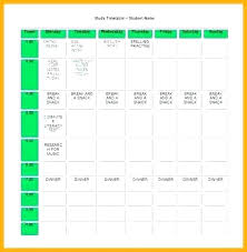 Class Timetable Template Custom Class Schedule Template Excel Study Homework Timetable Word Student