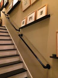 stair hand railing on wall best ideas about gallery view larger basement  install