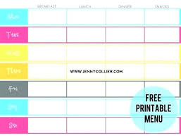menu planner worksheet free menu planner template online meal best images on organizers