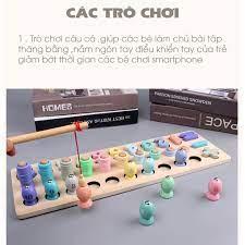 Bộ đồ chơi học tập trí tuệ bằng gỗ cho bé dụng cụ phát triển trí não cho  trẻ em từ 1-6 tuổi