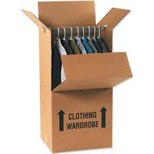 hang clothes in wardrobe boxes