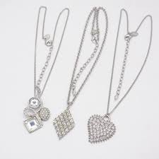 details about lia sophia jewelry silver tone heart diamond shape pendant necklace for women