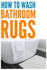 how to wash bathroom rugs this got the stains out without ruining them