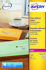 Avery Shelf Adh Clear Mini Organinsing Return Address A4 Label L7551