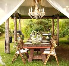 improbable outdoor gazebo chandelier lighting garden landscape pergolas outside uk lamp sha